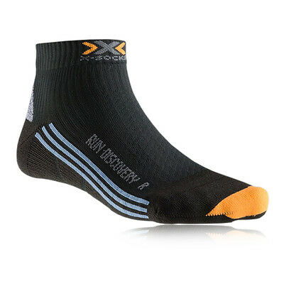 X-Bionic Run Discovery Womens Black Running Athletic Anklet Sports Socks