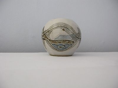 Fabulous Hand painted Decorative Studio Pottery Small Pot or Vase