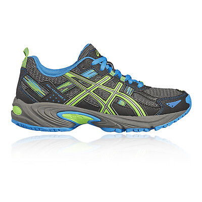 Asics Gel Venture GS Junior Boys Grey Trail Running Road Shoes Trainers Pumps