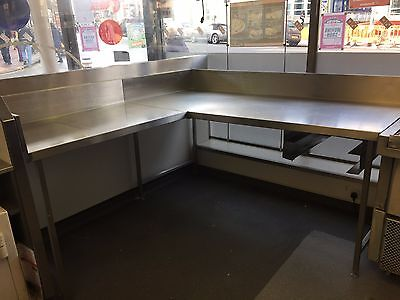 stainless steel work surface commercial kitchen