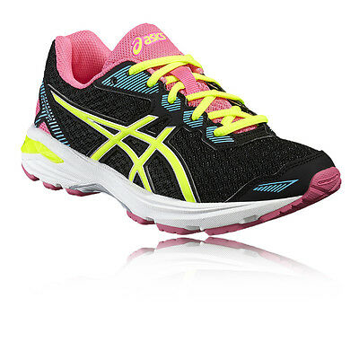 Asics GT-1000 5 GS Junior Pink Black Support Running Sports Shoes Trainers