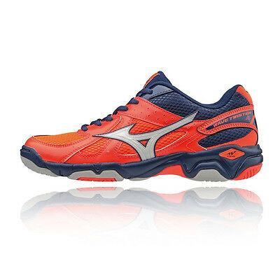 Mizuno Wave Twister 4 NB Womens Pink Netball Squash Sports Shoes Trainers Pumps