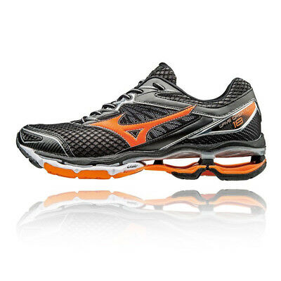Mizuno Wave Creation 18 Mens Black Cushioned Running Road Sports Shoes Trainers