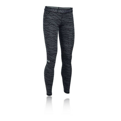 Under Armour Favorite Print Womens Black Training Long Tights Bottoms Pants