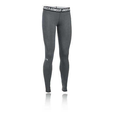Under Armour Favorite Womens Grey Running Gym Long Tights Pants Bottoms