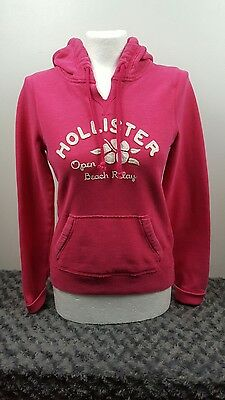 Women's Hollister hoodie, pink with white writing, small [ref:1417]