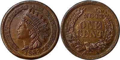 Civil War Token 1863 Indian Stars On Ribbon/Not One Cent F-95/368a R2 Extra Fine