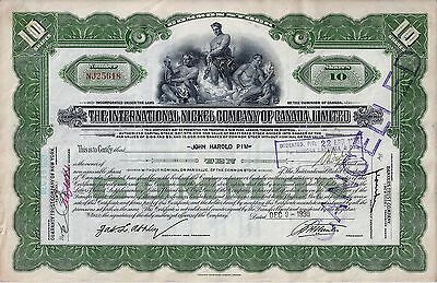 The International Nickel Company of Canada Limited, 1935 (10 Shares)