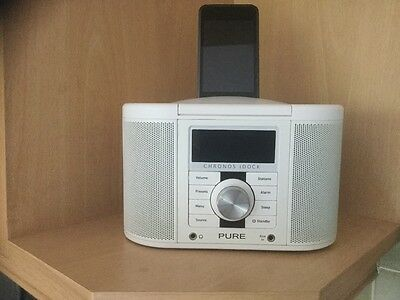 Pure Chronas i dock series 11 dab fm stereo clock radio excellent condition.
