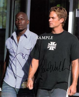 Tyrese Paul Walker Reprint Autographed Signed Picture Photo Fast Furious Rp