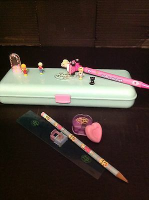 Vintage Polly Pocket Pencil Case 100%complete With Figures