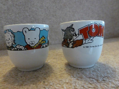 Two Egg cups - Tom and Jerry and Rupert Bear