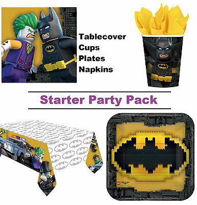 The Lego Batman Movie | Robin 8-48 Guest Starter Party Pack Cup | Plate | Napkin