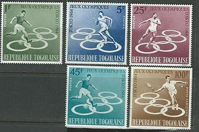 Nice set of Olympic stamps from Togo. 1964. SG 386-90