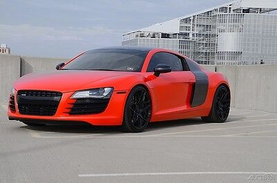 2009 Audi R8 4.2 2009 AUDI R8 R-TRONIC FABSPEED EXHAUST MMR WHEELS BLOOD ORANGE WRAP