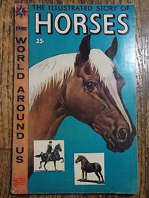 The World Around Us #3 (November 1958) Illustrated story of horses Comic (Gilber