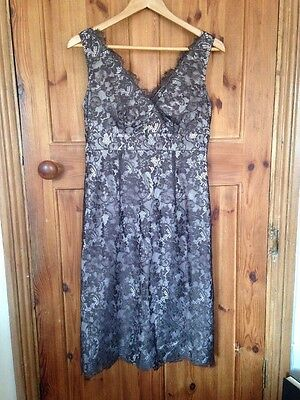 Monsoon Size 12 Lace Slim Fit Dress Below Knee - Wedding Party Occasion