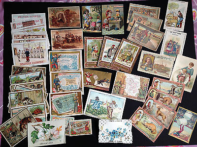 Lot 60 Chromos Lithographies Images Anciennes- Themes Varies