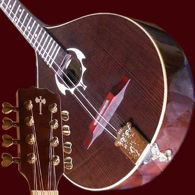 Irish Red Bouzouki with pick-up and EQ-System, made of solid wood