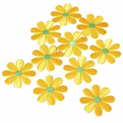 10pcs Embroidered Applique Flower Patches Sewing Craft Decoration N5P4