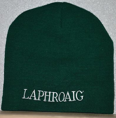 NEW Laphroaig Scotch Whisky Knit Stocking Hat Embroidered Logo Green