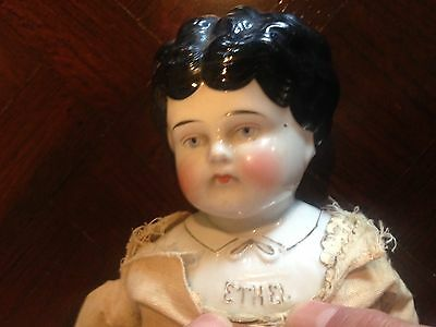 Hertwig 1895+ Pet Name China Head Doll -low brow- Ethel-18""