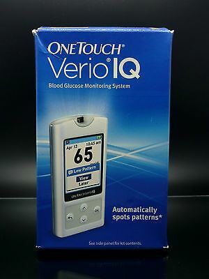 OneTouch Verio IQ Blood Glucose Monitoring System Automatic Spots Pattern Sealed