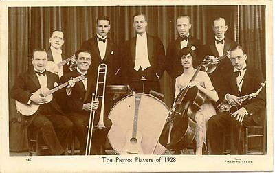 Real Photographic postcard of The Pierrot Players of 1928 - unused