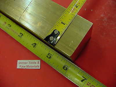 "1-5/8"" x 1-5/8"" C360 BRASS SQUARE BAR 6"" long Solid 1.625"" Flat Mill Stock H02"