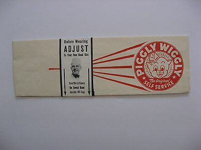 Vintage Grocery Store Paperlynen  Advertising Hat (Piggly Wiggly )