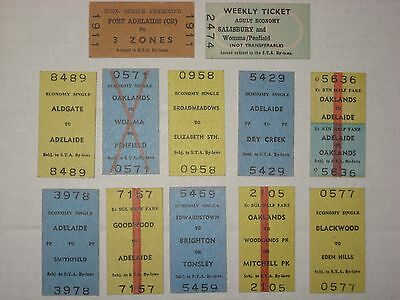 12 South Australian (STA) Railway Tickets - Australia