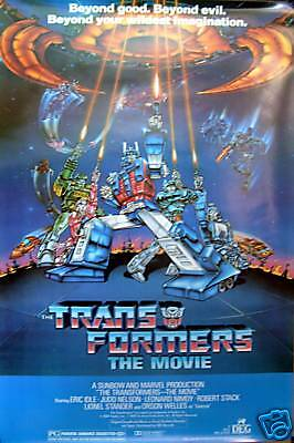 Transformers 27x40 The Animated Movie Poster 1986