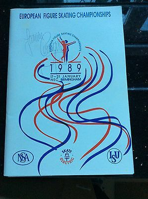 European Figure Skating Championships 1989 Programme With Autograph & Newspaper