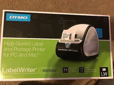 DYMO LabelWriter 450 Turbo Thermal Label and Postage High Speed Printer New
