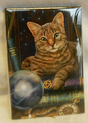 Tabby Cat with Crystal Ball Fridge Magnet - Lisa Parker Fortune Teller - BNIB