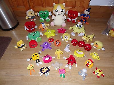 Bundle Of 36 x Plush HAPPY CREATURES & HEARTS Soft Toys 12 ins High max