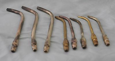 POL torch tips lot of 8 acetylene tips UGA torch tip