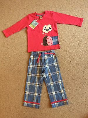 Frugi girls' Sleepy Dog Pjs, size 3-4 years, NEW with tags.