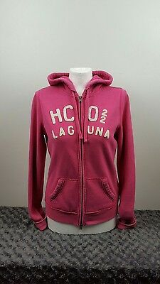 Women's Hollister hoodie, pink with white writing, large [ref:1420]