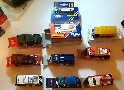collection of 10 1980s corgi junior boxed die cast cars