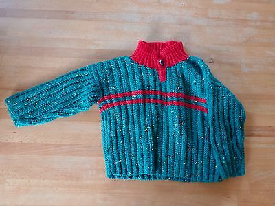 Hand Knit Cable Jumper, Age 1-2yrs