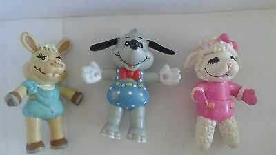 Lamb Chop Baby Hush Puppy & Baby Charlie Horse Figures 1993