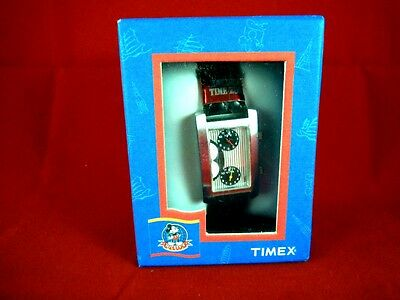"Timex Disney Mickey Mouse World Dual Time Zone ""Here There"" Tank Watch"