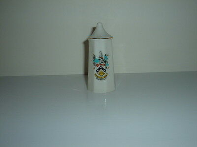 Vintage Arcadian Crested Ware China  Salt Pot With  'lowestoft'  Crest - Ex.con