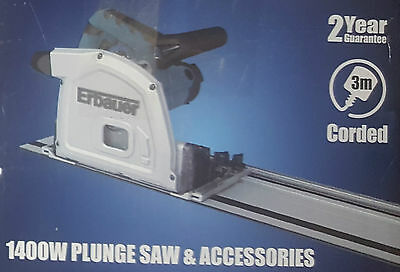 Erbauer ERB690CSW 185mm Plunge Saw & 2 x 700mm Guide Rails 240V NEW