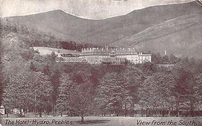 Vintage Postcard c1930's The Hotel Hydro Peebles Hydropathic View from the South