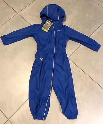 Bnwt New Gelert Outdoors Blue Waterproof All In One Rain Suit 18-24 Mth Toddler