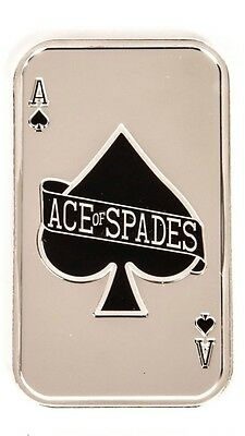 1 Oz 999 Pure Silver Bar In Capsule ... The Ace Of Spades