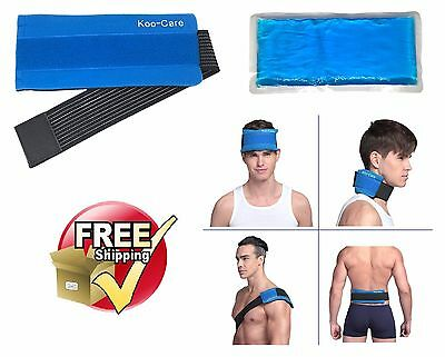 Hot Cold Therapy Pad Reusable Gel Ice Pack Sport Injury Pain Relief Back Strap