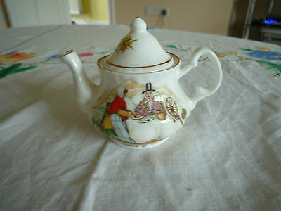 Lovely Small Souvenir of Wales Vintage Teapot from Norstock of Welsh Ladies